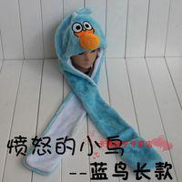 Wholesale Children S Animal Scarf Hats - Animal hat boys and girls children 's hat animal plush hat + scarf + gloves drop ship
