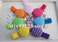 Wholesale Grosgrain Ribbon Alligator Clip Lined Clips with cm Cotton Fabric Covere