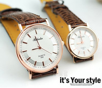 Wholesale Latest Design Men Women Ultrathin Leather Band Dress Watch Fashion Formal Wide Slim Lover Wristwatch