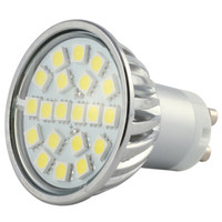 Wholesale 4W GU10 LED Bulb Spot light SMD5050 LED cool white or warm white ACAC85 V Degree Angle