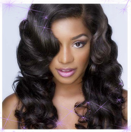 Wholesale 100 Dark wave Virgin Brazilian natural human hair weft For