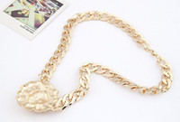 lion head necklace - Hot Sale High Quality Big Gold Chain Lion Head Pendant Choker Necklace Jewelry