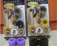 Wholesale New sets Hairagami Bun Tail Hot Knot Sticks Hold And Hide Hair Up Clip