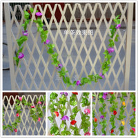 Wholesale 2 meters long FT High simulation flower rattan home decoration dried leave artificial