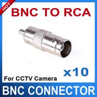 Wholesale 10PCS BNC female to RCA male convertor adapter for audio or video equipment