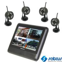 Wholesale 2 GHZ CH Digital Wireless Camera amp Quad DVR Security System