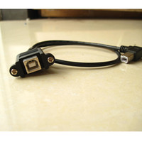 Wholesale 10pcs cm inch USB type B male to female USB B printer data extension cable adapter