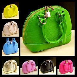 Wholesale 8 colors Toothpicks fold grain cute children s shell handbag lovely girls shoulder bags children totes purses