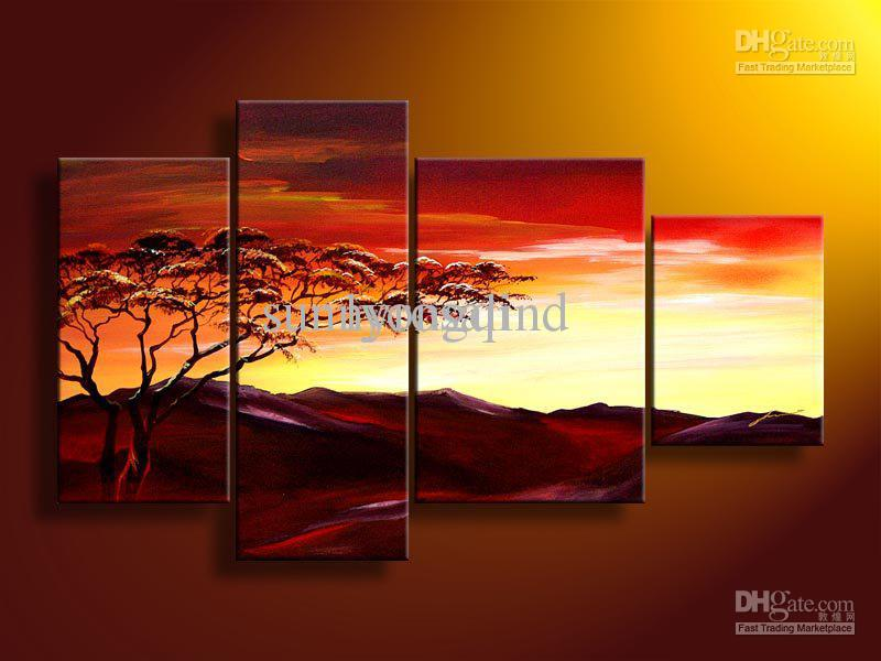 Abstract Landscape Paintings Landscape Oil Painting on