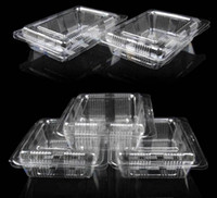 Wholesale 100pcs x9 cm Plastic Individual Cupcake Muffin Cake Cases Mousse Dessert Cupcake Boxes