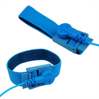 Wholesale Lowest Price NEW Anti Static Antistatic ESD Adjustable Wrist Strap Band Grounding Blue
