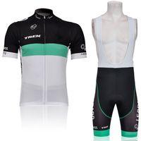 Wholesale Bicycle tights TREK Team men cycling wear short sleeve shirt and bib shorts sets cycling jersey