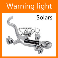 Wholesale Iron Solar LED Lizard Style Car Motorcycle Warning Flash Lights