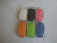 Wholesale Hotselling colors G Wireless Thin Optical Mouse White for Laptop Notebook