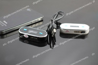 Wholesale NEW Mini Wireless MM FM Transmitter for iPhone S C iPad iPod Samsung HTC Mobile Phones MP3
