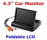 Wholesale 4 quot TFT LCD Mini Car Auto Rearview Monitor Folded CCTV security Camera Car DVD