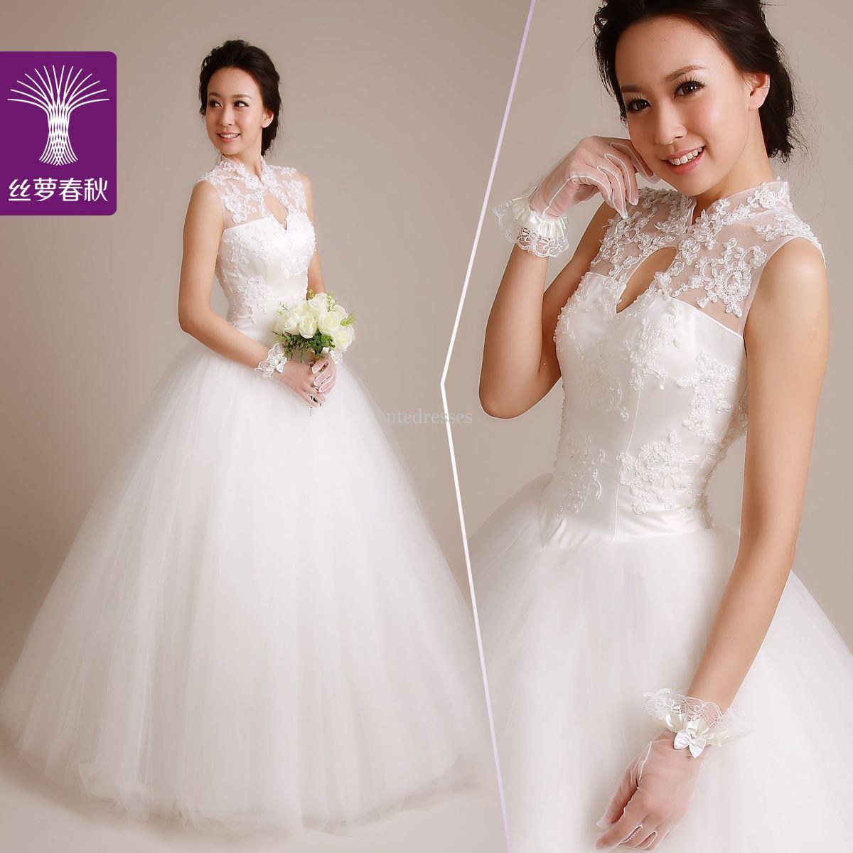 Пушистые свадебные платья