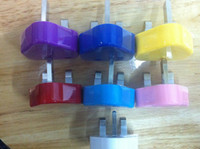 Wholesale 500pcs Travel UK Plug USB Wall Charger AC Adapter for iPhone S iPad iPod