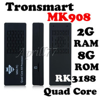Wholesale Tronsmart MK908 RK3188 Quad Core Android Smart Mini TV Box IPTV HDMI PC Stick Dongle GB RAM G ROM