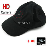 Wholesale NEW Baseball Cap Hat HD Camera Hidden DVR Mini Camcorder Recorder GB TF Card