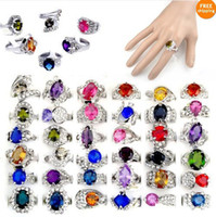 Wholesale New jewelry X Big Rhinestone Crystal Ziron Silver P Rings Bulk CZ40