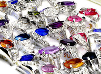 bulk lots - New jewelry X Big Rhinestone Crystal Ziron Silver P Rings Bulk CZ40