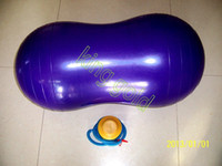 Wholesale pvc yoga peanut ball children toy inflatable ball exercise ball with inflator pump