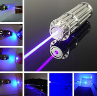 Wholesale focusable high power blue laser pointer mw w nm burning match paper dry wood candle black