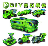 Wholesale Diy Puzzle Educational Toy in Rechargeable Solar Racing Car Truck Hot Novelty