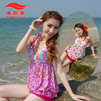 Wholesale 2013 hot spring swimsuit steel plus size female split swimwear logo haiyunlai3209