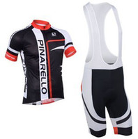 Wholesale 2013 PINARELLO Short Sleeve Bicycle Bike Wear BLACK amp RED Cycling Jersey BIB Shorts Size XS XL P003