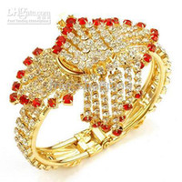 Wholesale New Elegant Women s Jewelry KT yellow Gold filled Bracelet Watch Wristwatch With Red Round ge
