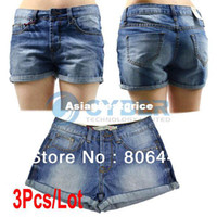Wholesale Cheap Fashion Designer Lady Women s s Denim Casual Shorts Jeans sizes