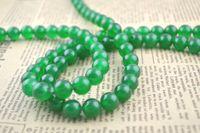 Wholesale 4mm Mala Green Jade Round Beads Semi precious stone beads for DIY Jewerly string Free Ship