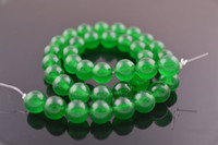 Wholesale Dyed Green Jade mm Stone Round Loose Beads for DIY Jewelry Making string Free Ship