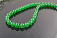 Wholesale Semi precious stone Green Jade mm Round Beads for DIY Jewerly Making string Free Ship