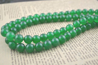 Wholesale Green Jade mm Stone Round Beads for DIY Jewerly Making string Free Ship