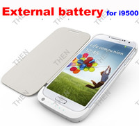Wholesale 3200mAh External Backup Battery Leather Case Power bank For Samsung Galaxy S4 IV i9500 Good Quality