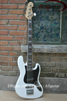 Wholesale 5 Strings DELUXE JAZZ BASS V OLYMPIC WHITE Active Pickups