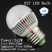 NEW Arrive Globe Lamp E27 E14 6W Led Lamp Lighting 85V- 265V ...