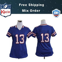 Wholesale 2013 American Football jersey Blue Home All teams Sportswear Women Jerseys Allow Customs