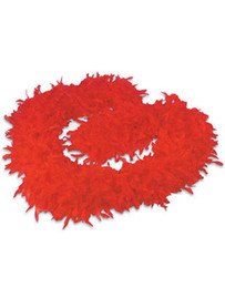 10 Pcs Fancy Dress Accessory Red Feather Boa Festive Party Costume 2M Multi Colors Event Supplies