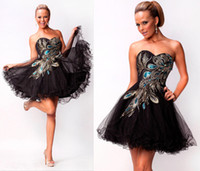 Wholesale 2013 Sexy peacock Short Tulle Graduation Prom Cocktail Party Ball Dress RL1233