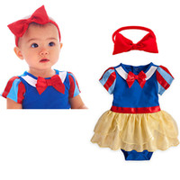 Wholesale 3set Children girl s The Snow White style romper hairband cute cartoon two piece set GZ04