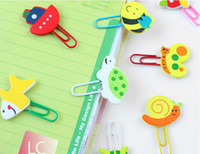 Wholesale stationery wooden stationery cartoon animal wool multicolour paperclip bookmark