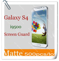 Wholesale 2013 Matte Screen Protector Film Guard Cover For Samsung Galaxy S4 i9500 With Retail Package