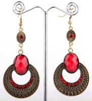 Wholesale 100 New fashion Vintage Crystal women Dangle Earring Size mm mm B90M