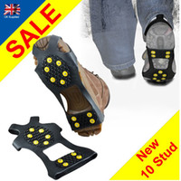 Wholesale Outside Over Shoe Studded Snow Grips Ice Grips Anti Slip Snow Shoes Crampons Cleats