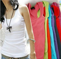 Tank Top basic vest tops - 2013 spring female basic vest tank small spaghetti strap top basic top tank color Sent at random