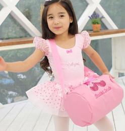 Wholesale Children Ballet Bags Baby Girls Messenger Bag Simple Design Pink Sling Bags Ballet Shoes Design BBP